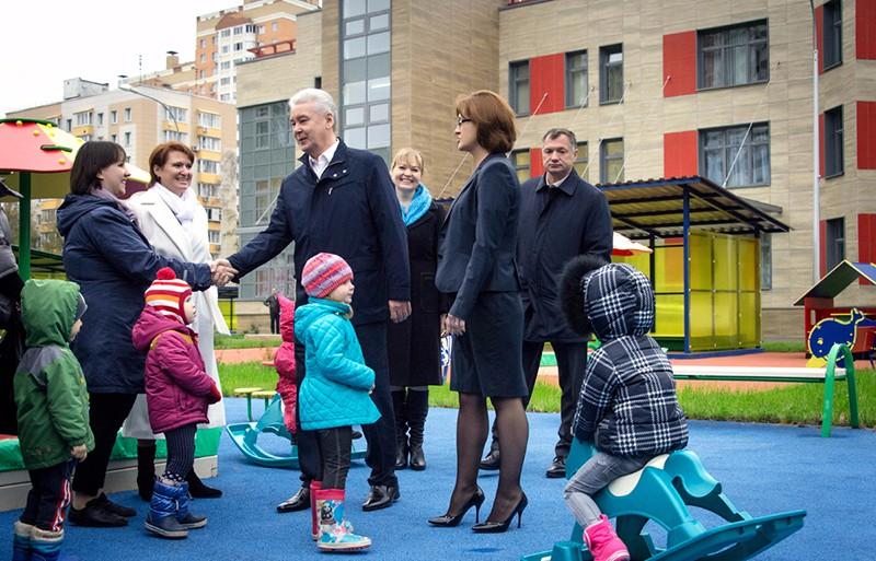 Сергей Собянин на открытии детского сада