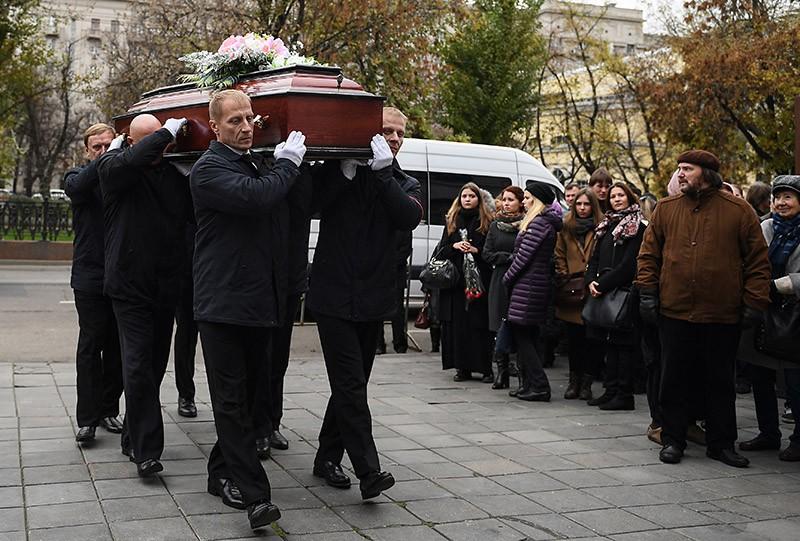 Прощание с актрисой Людмилой Ивановой в Москве