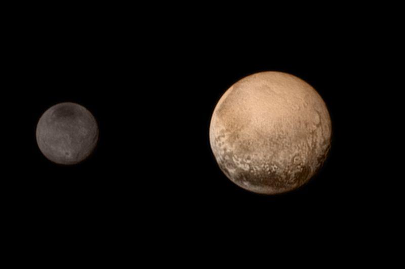 Карликовая планета Плутон и спутник Харон