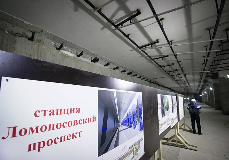 """Строящаяся станция """"Ломоносовский проспект"""""""