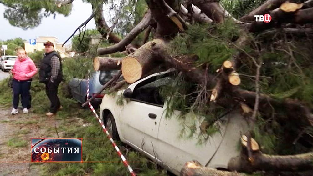 Последствия шторма в Италии