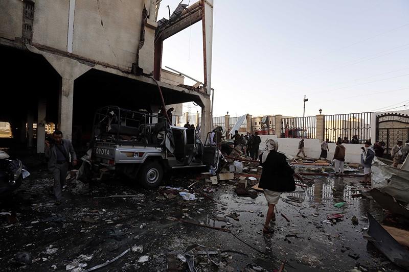Последствия бомбардировки Йемена
