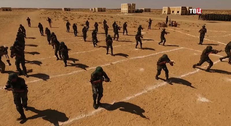Учения Российских и египетских десантников