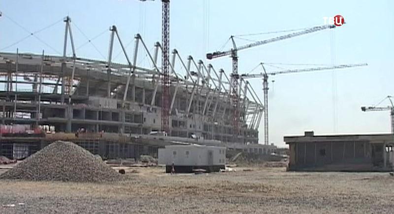 Строительство стадиона в Ростове-на-Дону