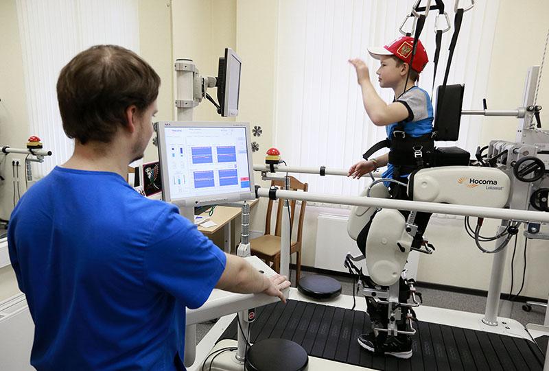 Реабилитация на роботизированном тренажере в НИИ неотложной детской хирургии и травматологии