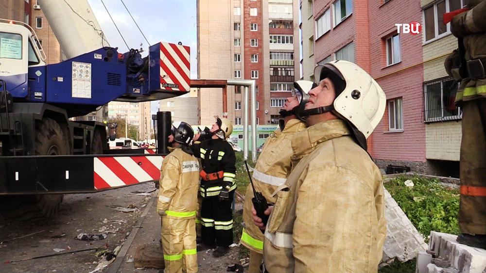Спасатели МЧС на месте происшествия