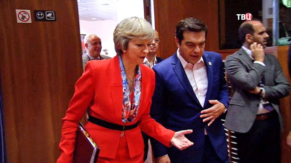 Премьер-министр Великобритании Тереза Мэй и премьер-министр Греции Алексис Ципрас
