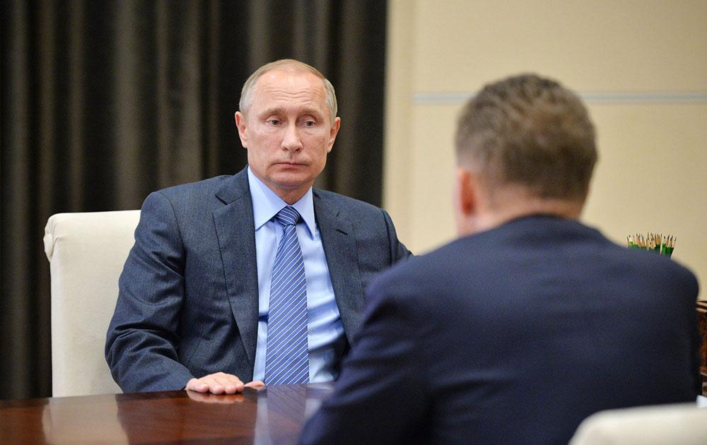 """Президент России Владимир Путин и  глава """"Газпрома"""" Алексей Миллер"""