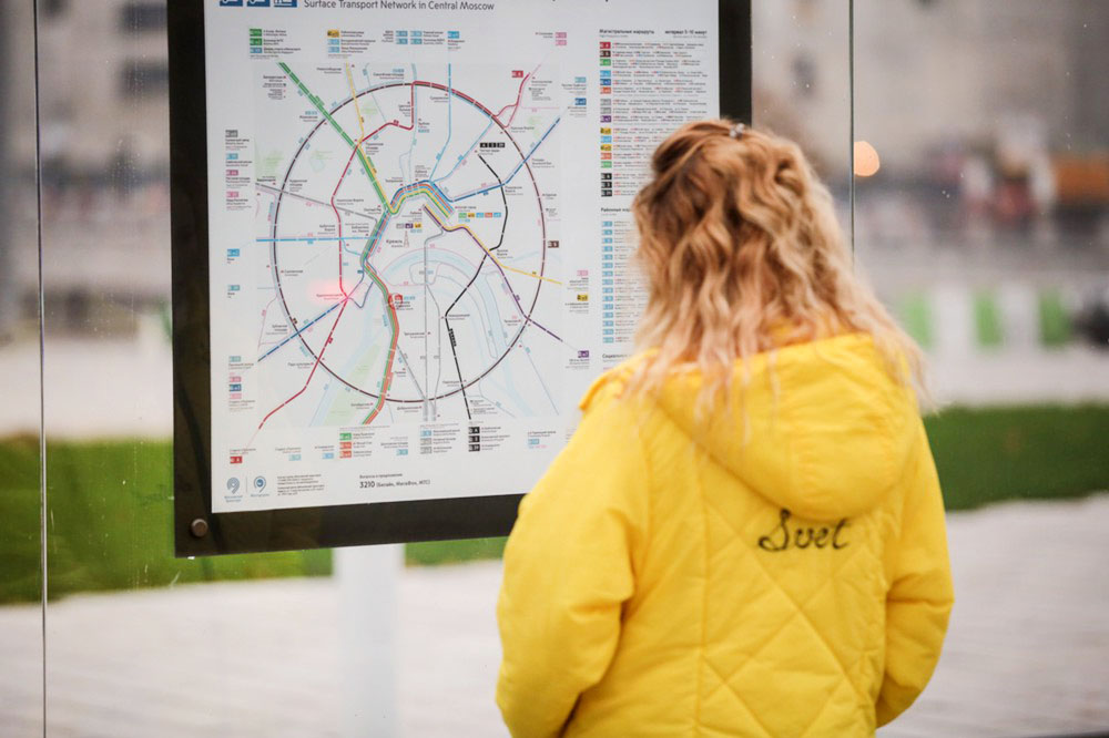 Карта общественного транспорта в Москве
