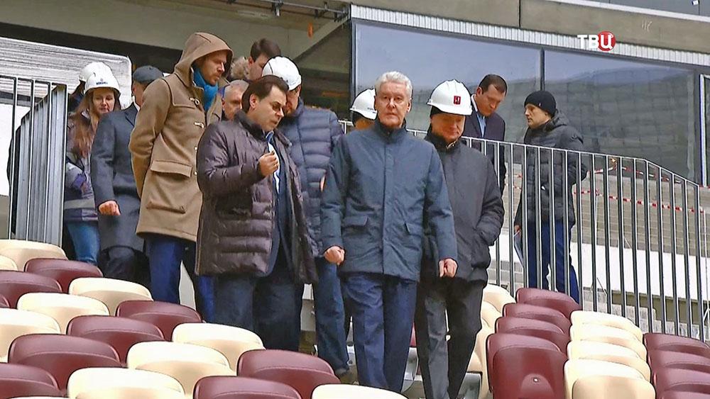 """Мэр Москвы Сергей Собянин посетил стадион """"Лужники"""""""