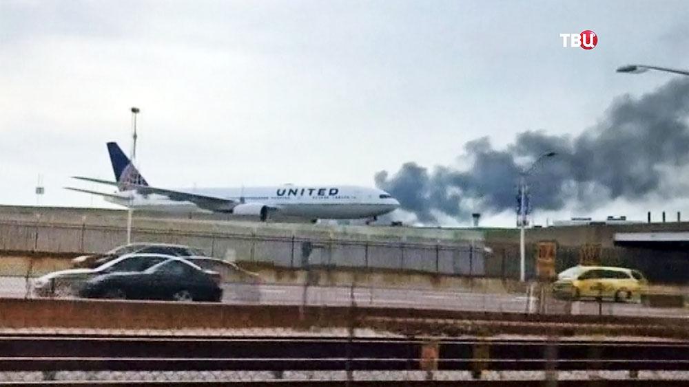 Пожар на аэродроме в США