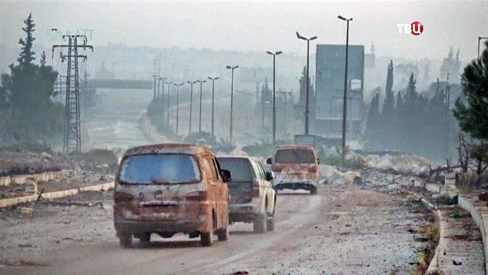 Автомобильное движение в Алеппо