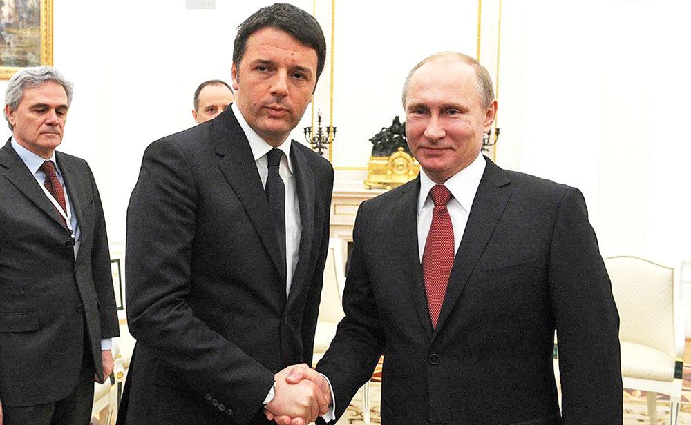 Владимир Путин и Маттео Ренци