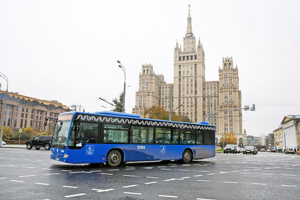 Автобусное движение в Москве