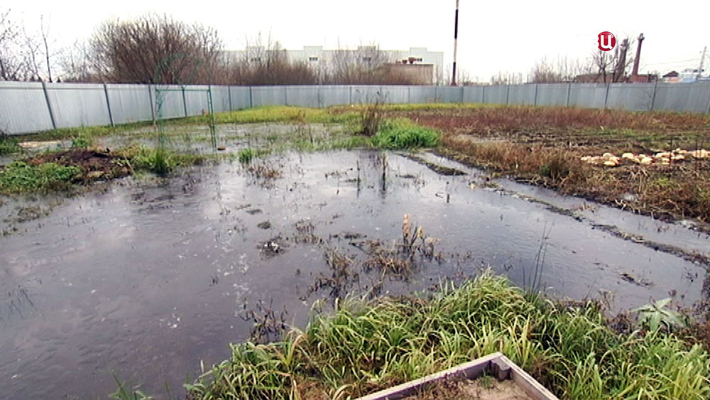 Затопленный дачный участок