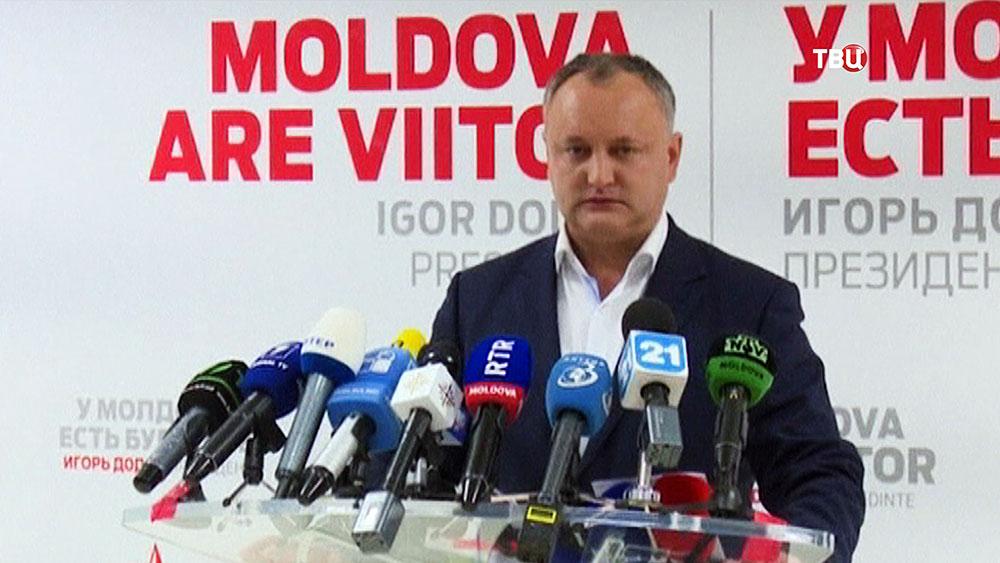 Глава партии социалистов Молдавии Игорь Додон