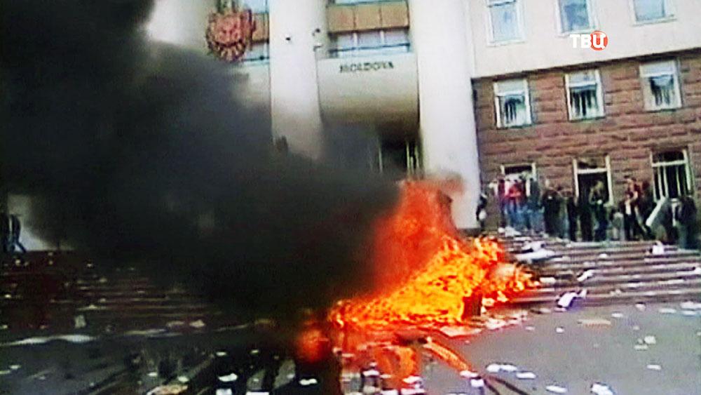 Уличные протесты в Молдавии