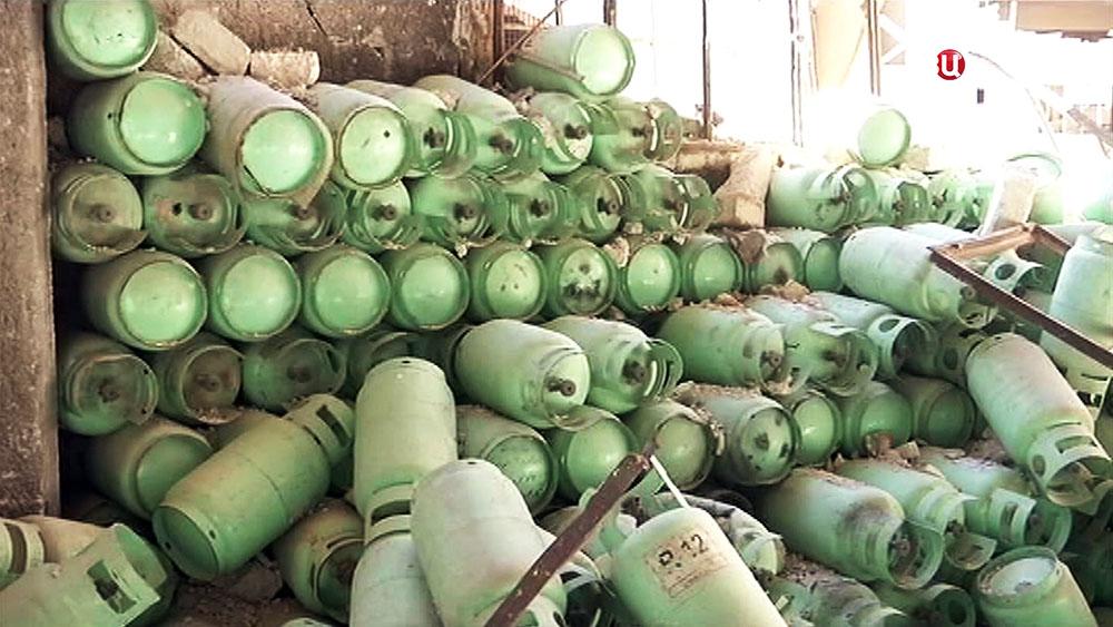 Подпольное производство газовых бомб в Сирии