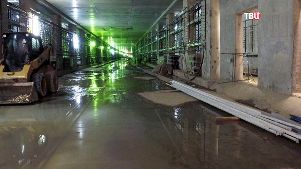 """Строительство станции """"Ховрино"""" Замоскворецкой линии метро"""