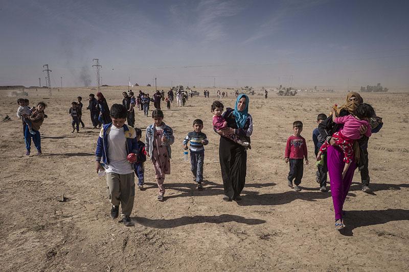 Беженцы, город Мосул. Боевые действия в Ираке