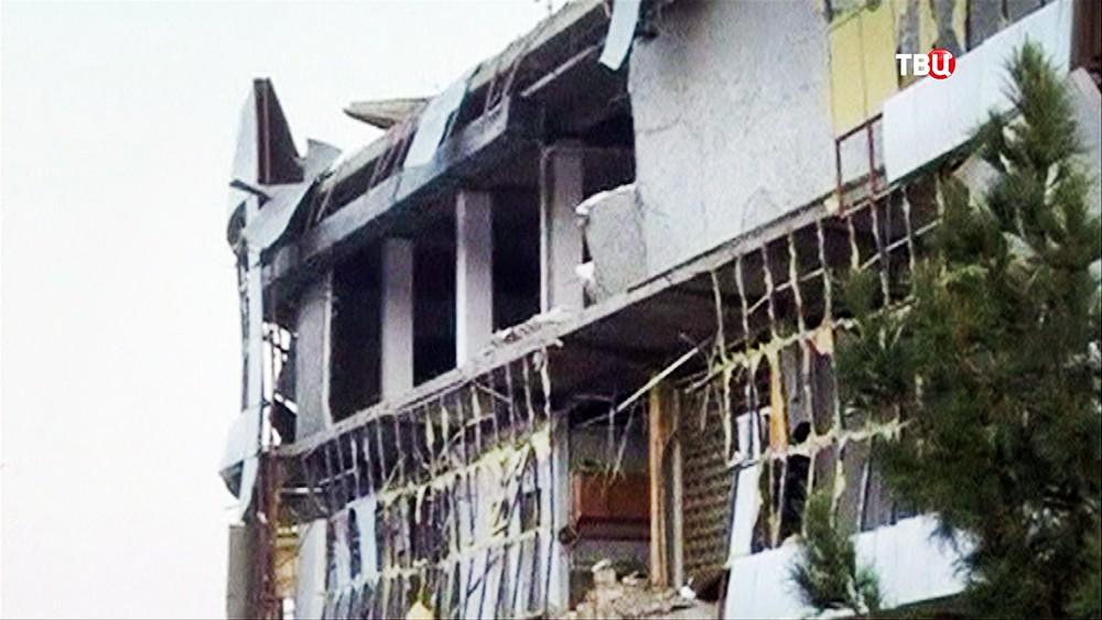 Последствия взрыва у посольства Германии в Афганистане
