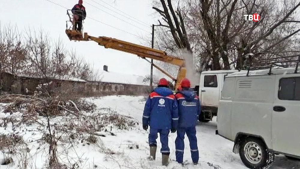 Устранение последствий ледяного дождя