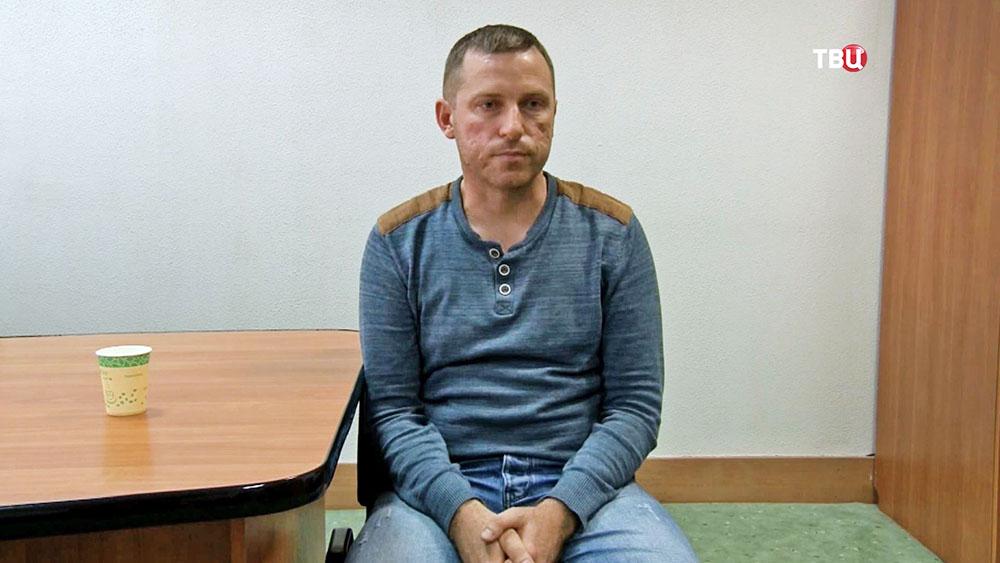 Задержанный украинский диверсант Алексей Бессарабов