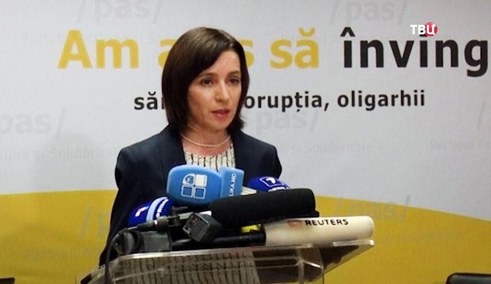 """Лидер партии """"Действие и солидарность"""" Майя Санду"""