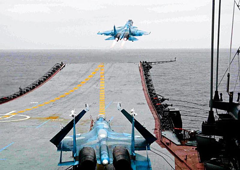 "Палубная авиация на авианосце ""Адмирал Кузнецов"""
