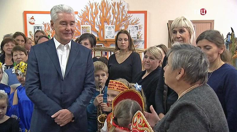 Мэр Москвы Сергей Собянин в Центре детского творчества