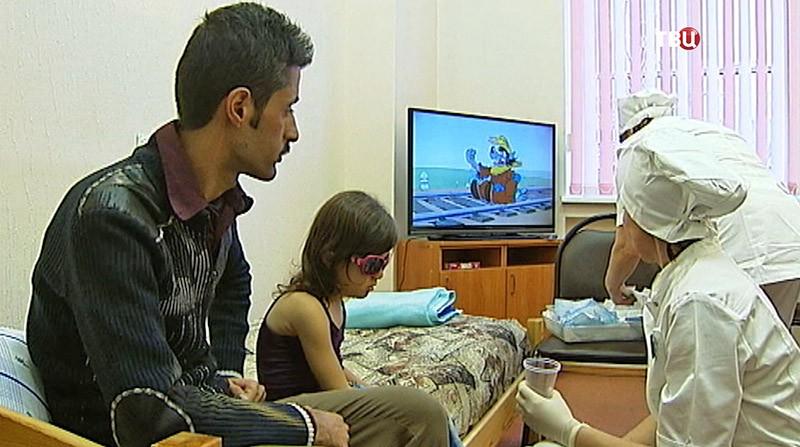 Детей из освобожденных районов Сирии