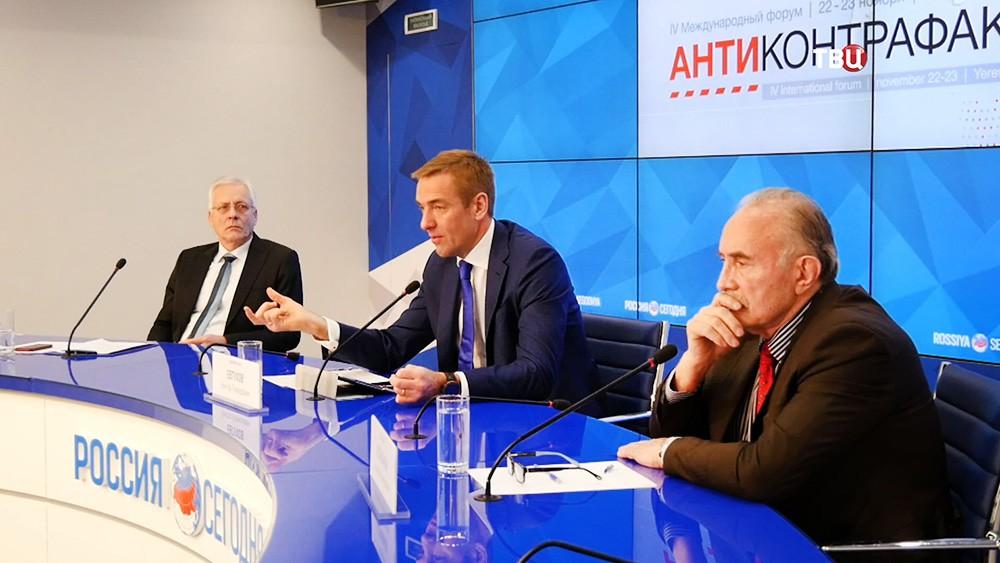"Пресс-конференция на форуме ""Антиконтрафакт"""