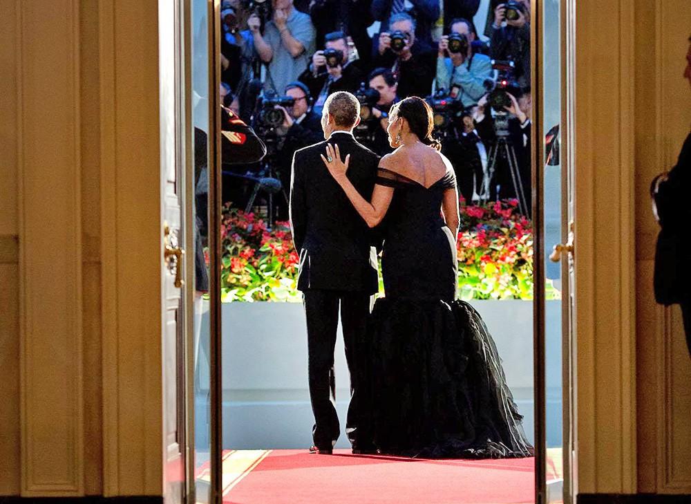 Барак и Мишель Обама в Белом доме
