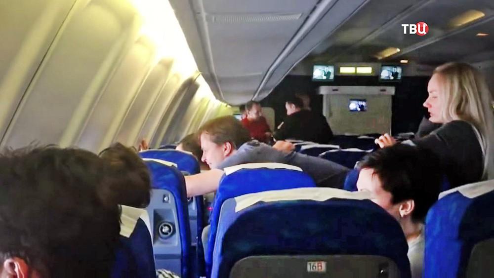 Журналисты кремлевского пула в самолете