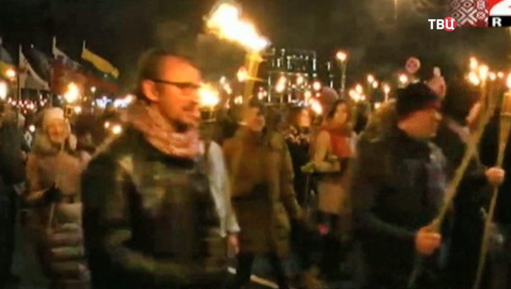 Факельное шествие в Литве