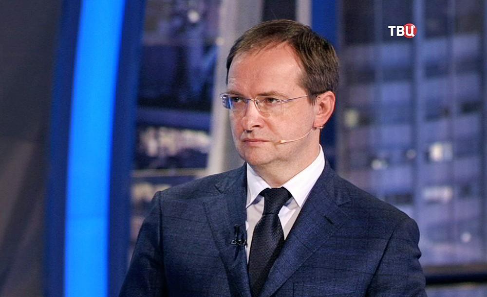 """Владимир Мединский в студии программы """"Право знать!"""""""