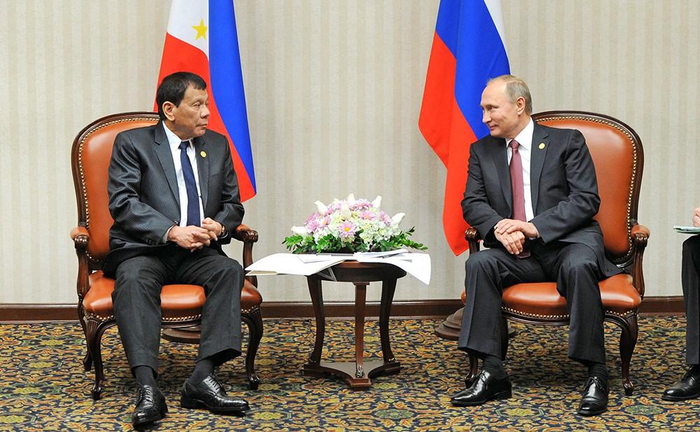 Президент России Владимир Путин и президент Филиппин Родриго Дутерте