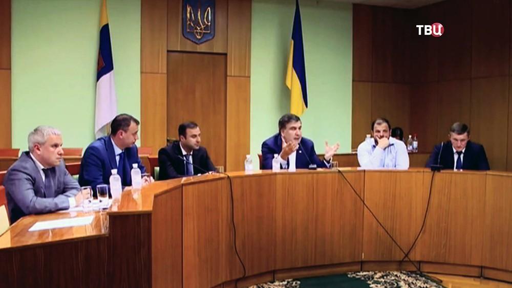 Михаил Саакашвили на заседании