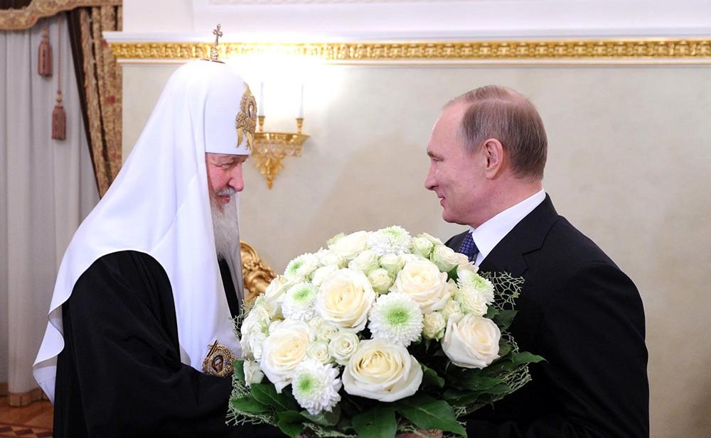 Президент России Владимир Путин и Патриарх Московским и всея Руси Кириллом