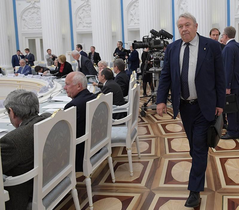Президент Российской академии наук Владимир Фортов на заседании Совета по науке и образованию в Кремле