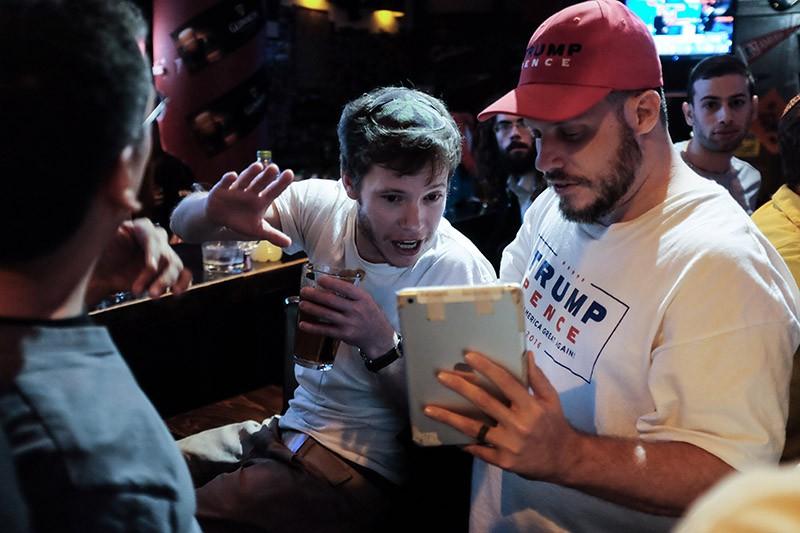 Сторонники избранного президента Дональда Трампа
