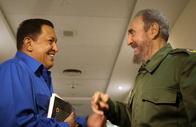 Фидель Кастро и президент Венесуэлы Уго Чавес