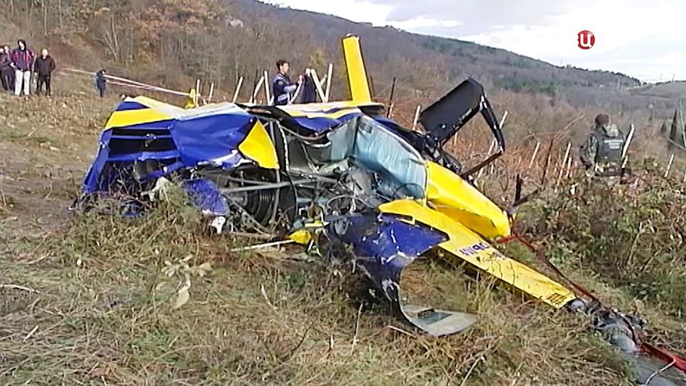 Последствия крушения вертолета