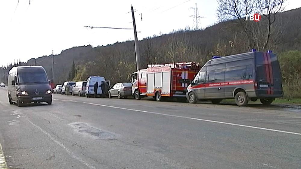 Экстренные службы республики Крым на месте происшествия