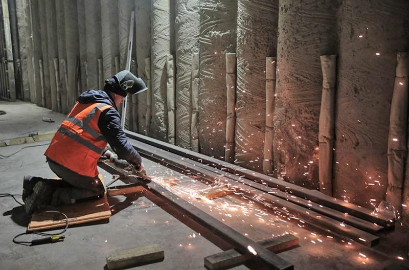 Строительные работы по отделке тоннеля