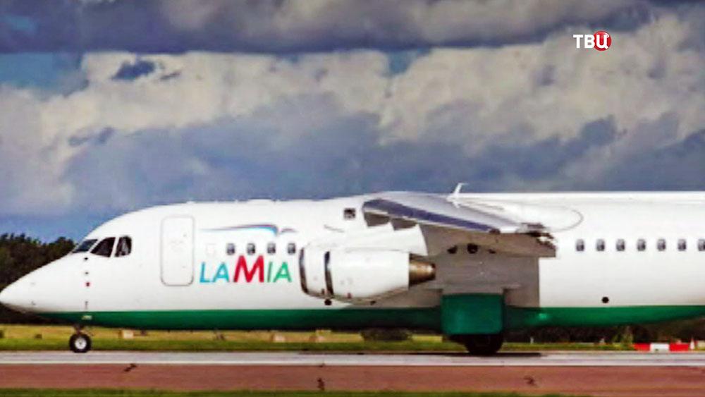 Самолет авиакомпании Lamia