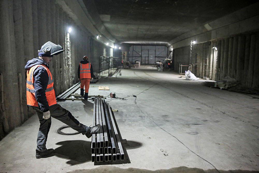 Строительные работы по прокладке тоннеля