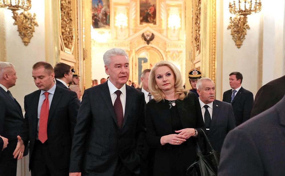 Мэр Москвы Сергей Собянин и председатель Счетной палаты Татьяна Голикова