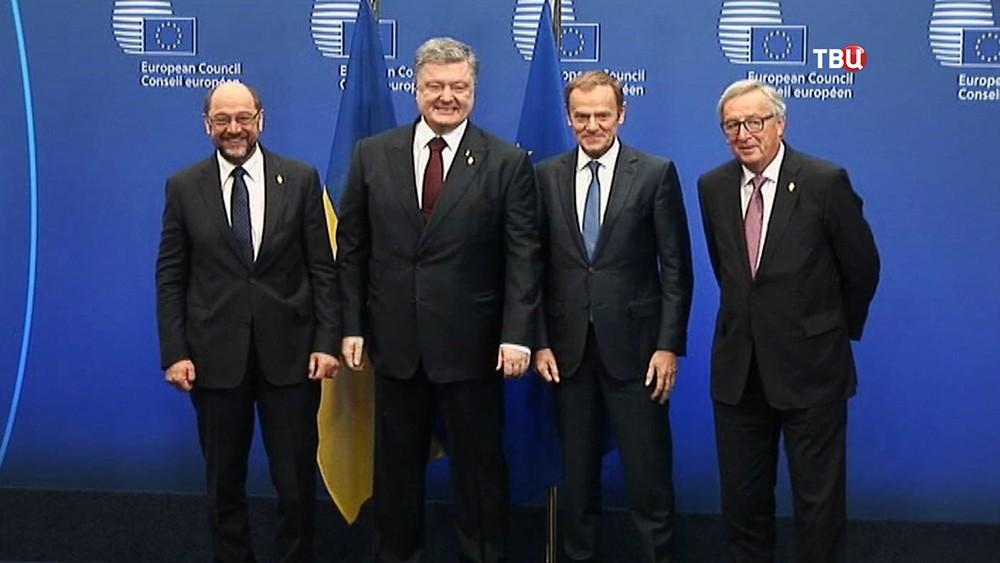 Мартин Шульц, Пётр Порошенко, Дональд Туск и Жан-Клод Юнкер