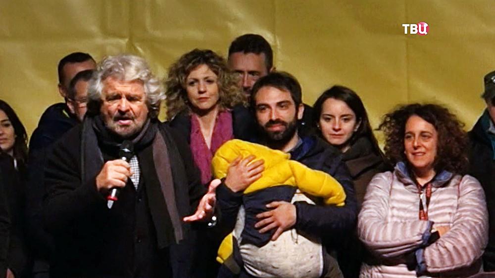 """Лидер итальянской партии """"Пять звёзд"""" Беппе Грилло"""